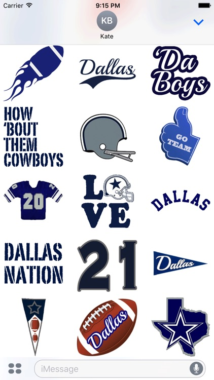Dallas Football Sticker Pack Experience