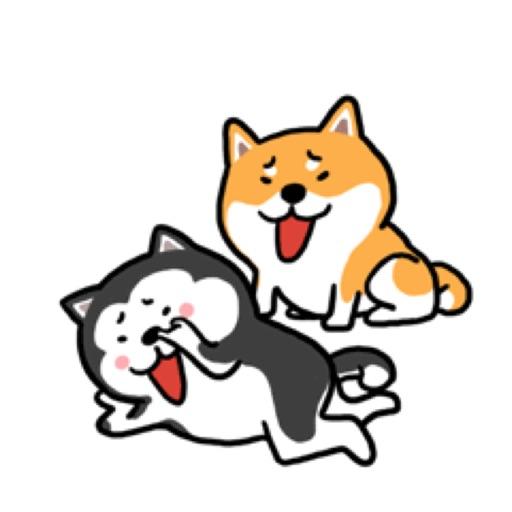 Cute Shiba Husky Friend Sticke