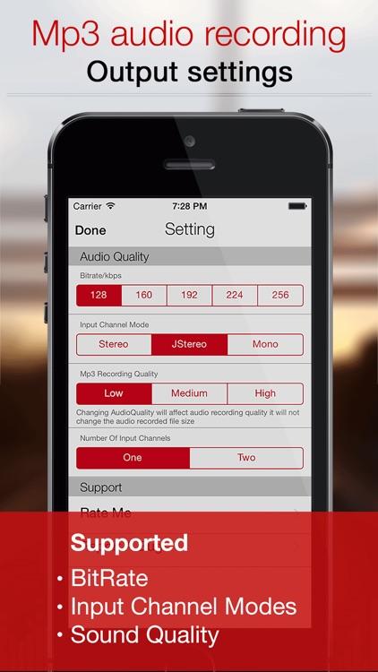 Mp3 Voice Recorder :Audio Note screenshot-4