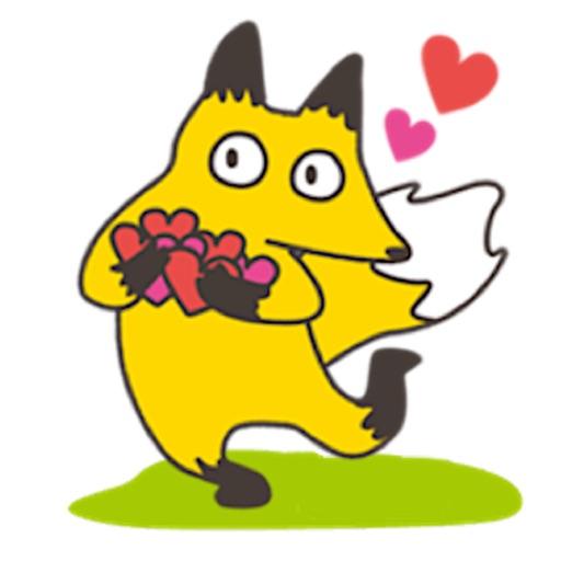 Cheerful Fox Foxmoji Sticker