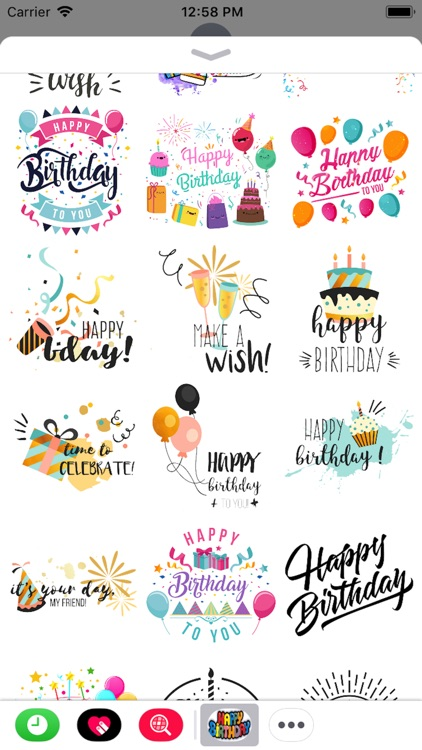 Happy Birthday Stickers 2018 screenshot-1