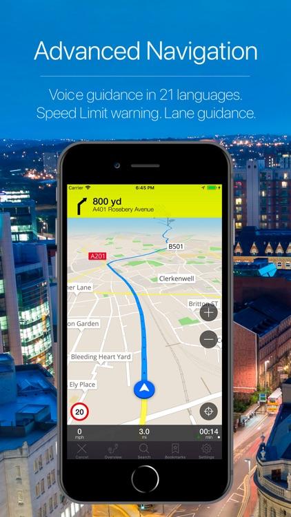 England, UK Offline Navigation screenshot-3