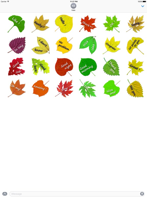 Messages On The Leaves Sticker screenshot 3
