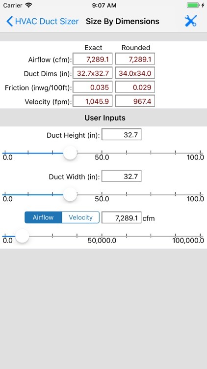 HVAC Duct Sizer screenshot-9