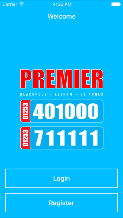 Premier Taxis Booking App screenshot one