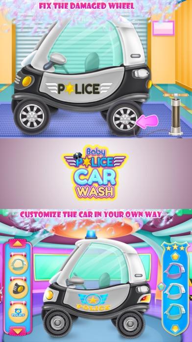 Baby Police Car Wash Screenshot