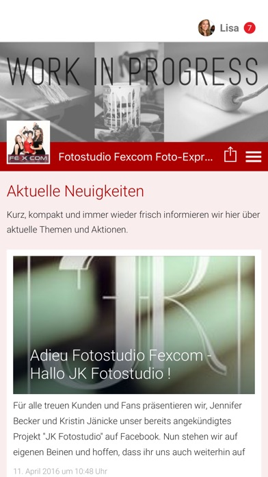 Fotostudio Fexcom Foto-ExpressScreenshot von 1