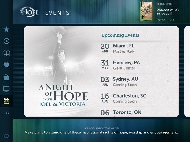 Joel Osteen for iPad on the App Store