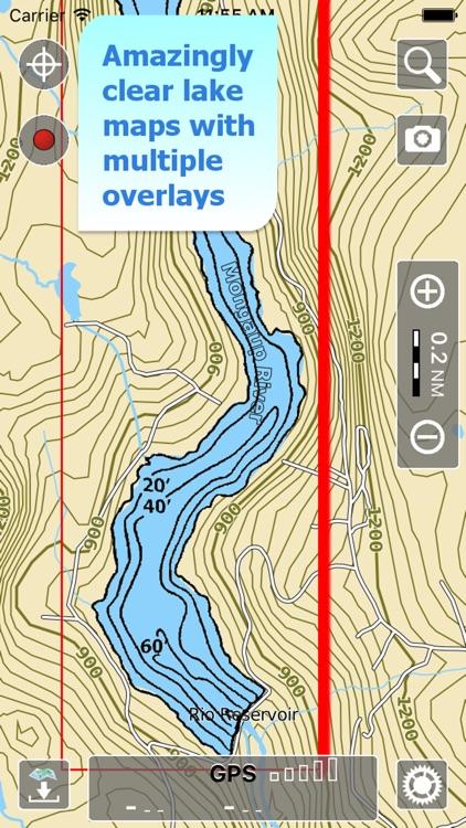 Aqua Map Pennsylvania Lakes HD screenshot-0