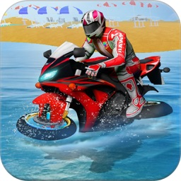 water surfer moto bike race