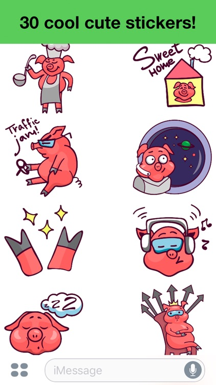 Pig - Cute stickers screenshot-3