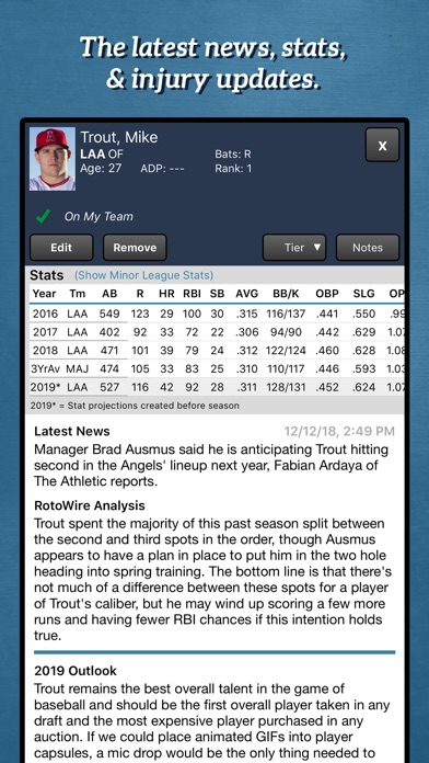 Fantasy Baseball Draft Kit '19 screenshot 2