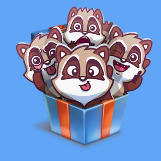 raccoonSTiK stickers iMessage