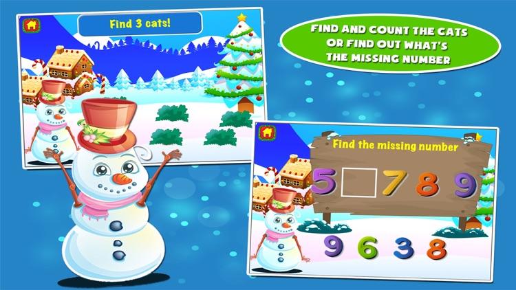 Snowman Preschool Math Games screenshot-4