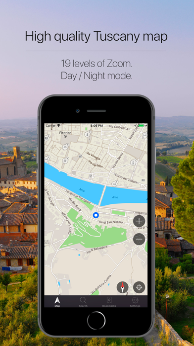 Tuscany Offline Navigation Screenshot