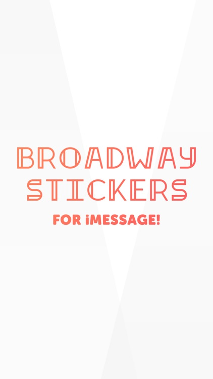 Broadway Stickers for iMessage screenshot-0