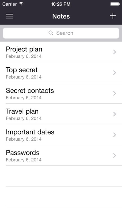 Lock Your Notes iPhone