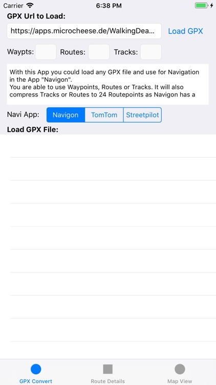 GPX2Nav Route Converter