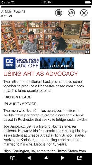 Democrat and Chronicle Print Screenshot