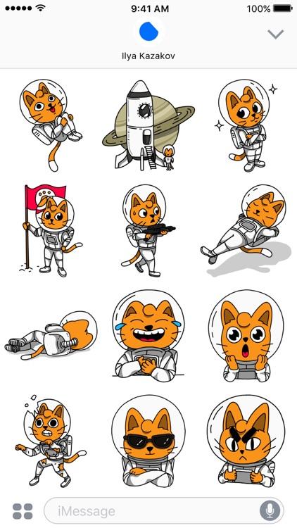 Cosmo Cat Stickers