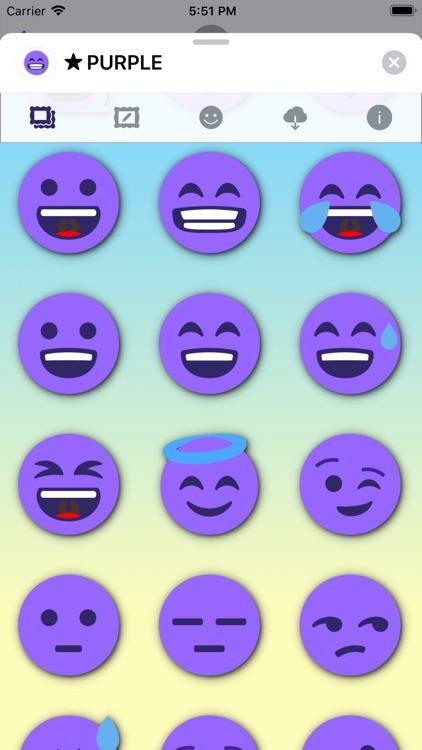 PURPLE Emoji • Stickers screenshot-3