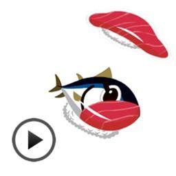 Moving Sushi Transform Sticker