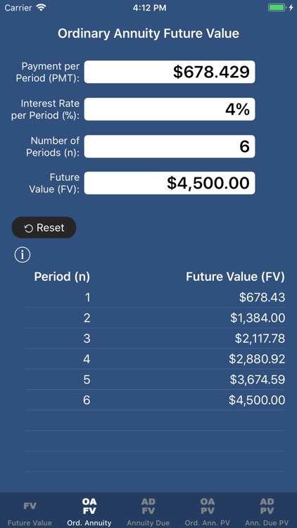SuperFVCalc: FV, PV, Annuities screenshot-2