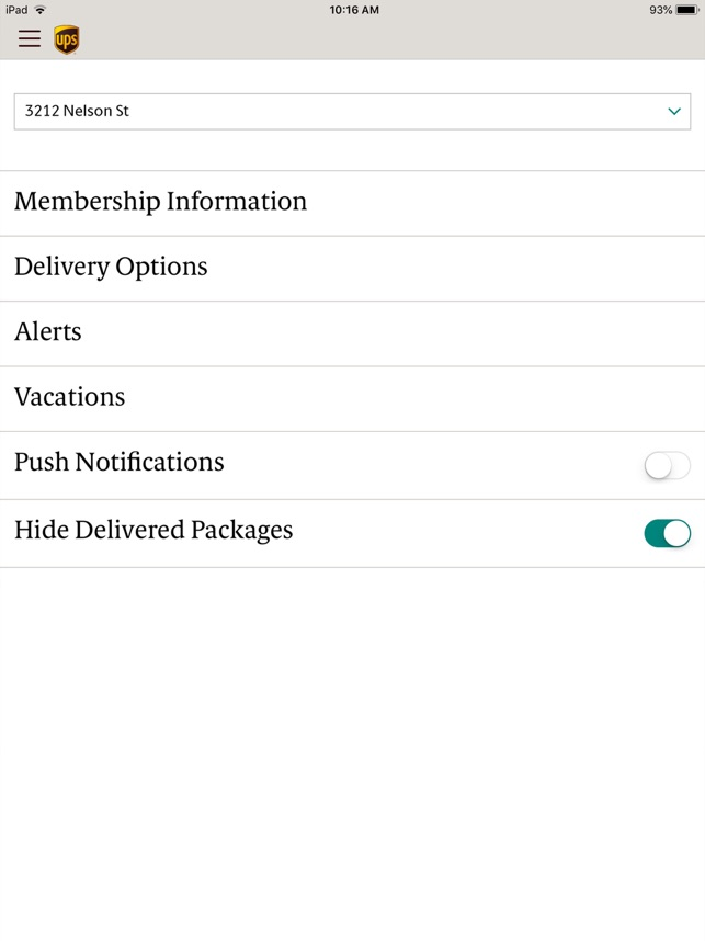 UPS Mobile Screenshot