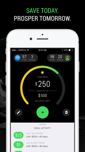 arnexa the smart savings goal tracker をapp storeで