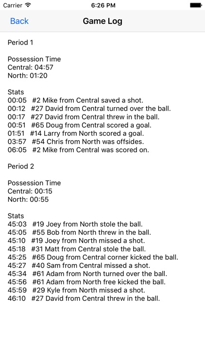 Soccer Stats Recorder screenshot-3