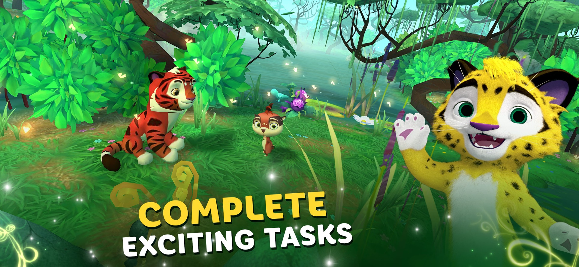 Screenshots from game «Leo and Tig: Forest Adventures»