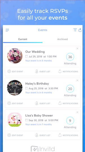 Invitation Maker Invitd Rsvp On The App Store