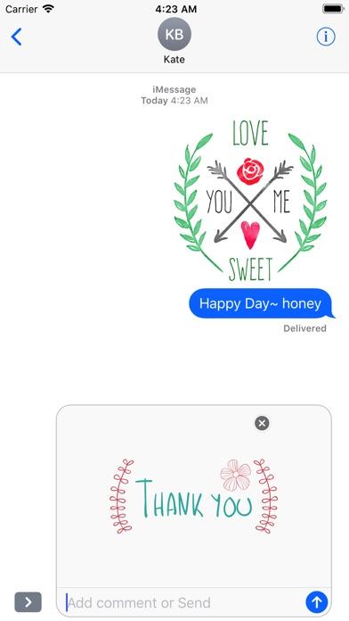 Hand Drawn Love Message Set screenshot 5