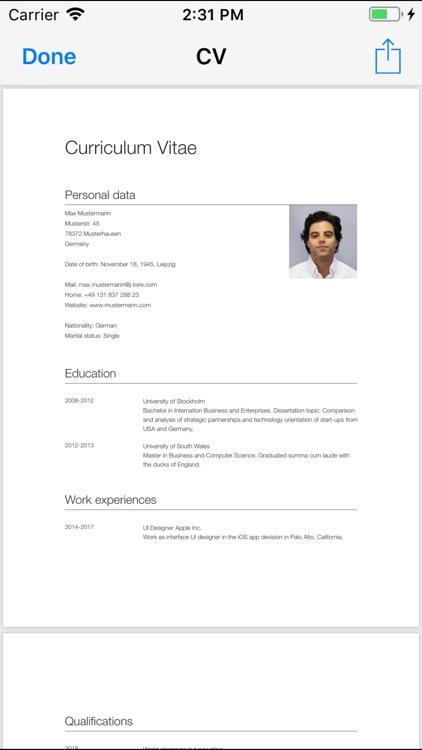 CV Designer screenshot-4