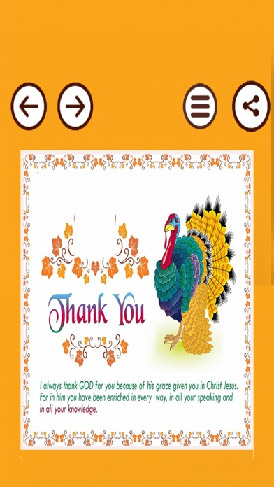 Happy Thanksgiving Day Cards screenshot two