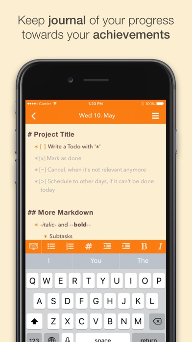 NotePlan: Markdown Todo-List, Notes and Calendar Screenshot 2
