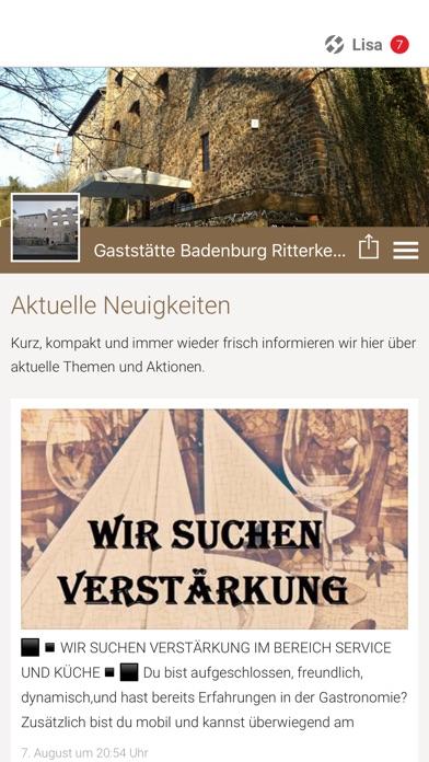 Gaststätte BadenburgScreenshot von 1