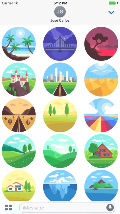 Landscapes Sticker Pack for iMessage