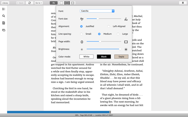 Kindle im Mac App Store
