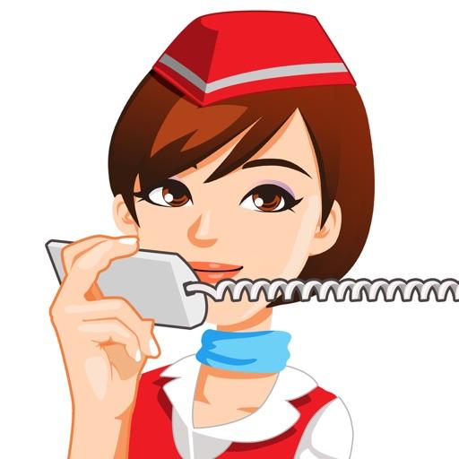 Flight Attendant Emoji Sticker