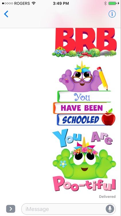 Poo-nicornicopia Stickers