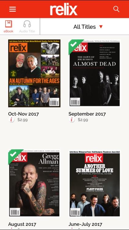 Relix Magazine screenshot-4