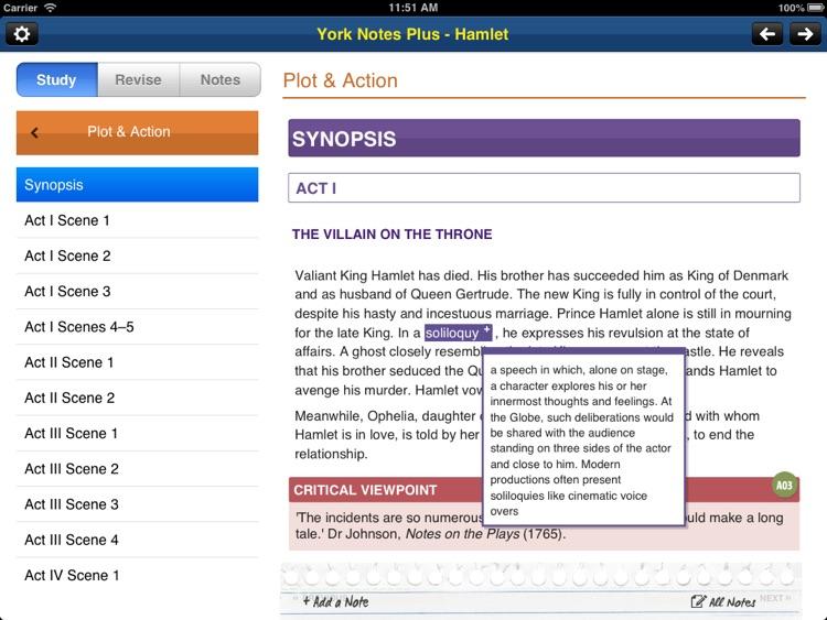 Hamlet York Notes AS A2 iPad