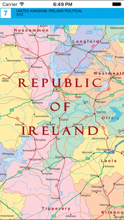 United Kingdom and Ireland. Political map. screenshot-4