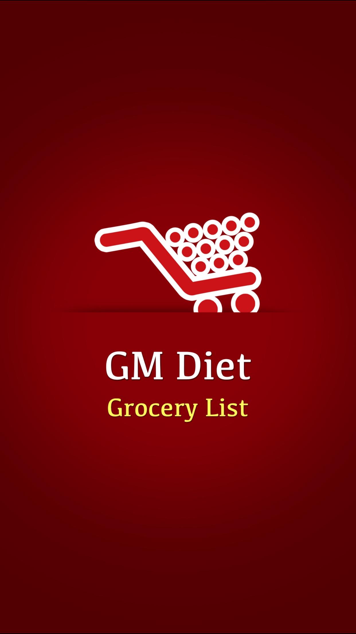 GM Diet Grocery List Screenshot