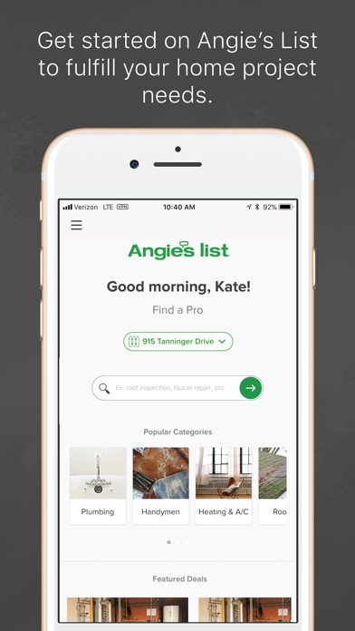 Angies List review screenshots