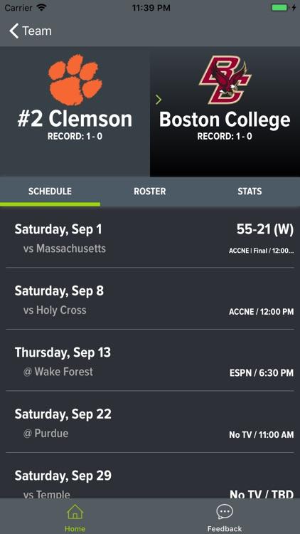 Clemson Football Schedules screenshot-8