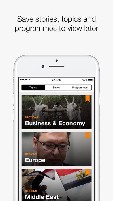 Screenshot 3 for Al Jazeera's iPhone app'