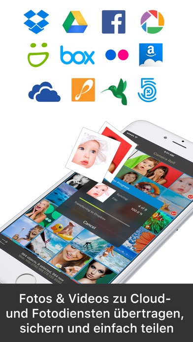 Screenshot for PhotoSync - Fotos übertragen in Germany App Store