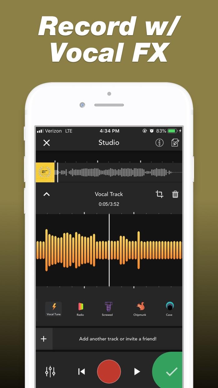 Rapchat — Rap Music Studio Screenshot